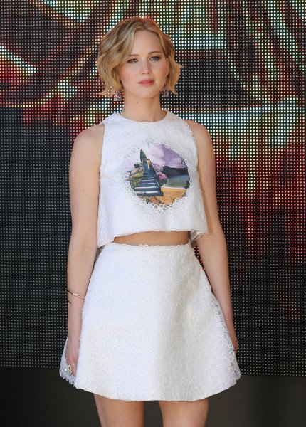 Jennifer Lawrence and Chris Martin have reportedly broken up. (UPI/David Silpa, Michael Bush)