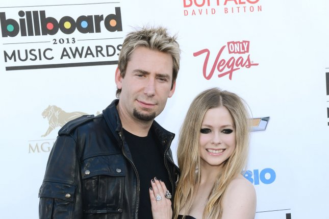 Singers Chad Kroeger of Nickelback and Avril Lavigne arrive at the 2013 Billboard Music Awards held at the MGM Hotel in Las Vegas, Nev., on May 19, 2013. File Photo by UPI/Jim Ruymen