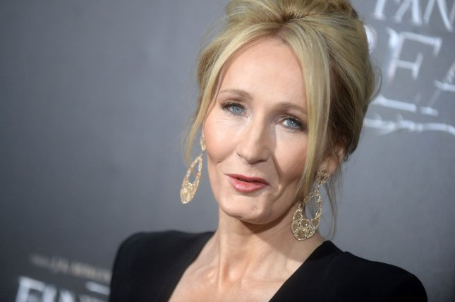 J. K. Rowling arrives on the red carpet at the Fantastic Beasts and Where to Find Them world premiere on November 10, 2016 in New York City. File Photo by Dennis Van Tine/UPI
