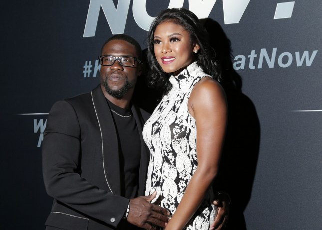 Kevin Hart shared on social media this weekend the first photos of his son with his wife Eniko Parrish. File Photo by John Angelillo/UPI