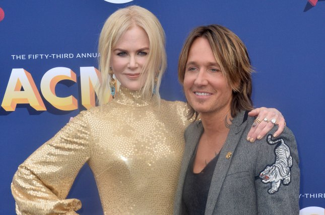 Nicole Kidman (L) and Keith Urban attend the Academy of Country Music Awards on Sunday. Photo by Jim Ruymen/UPI