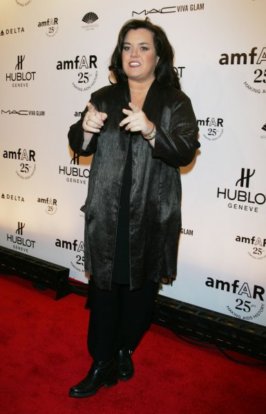 Rosie O'Donnell arrives for the amfAR 25th Annual New York Gala at Cipriani in New York on February 9, 2011. UPI /Laura Cavanaugh