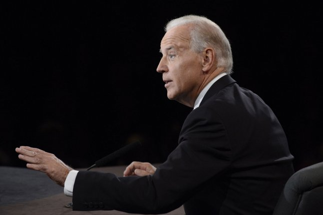 Vice-President Joe Biden speaks during his debate with Republican Vice-President nominee Paul Ryan (L) at the Vice-Presidential debate at Centre College on October 11, 2012 in Danville, Kentucky.. UPI/Michael Reynolds POOL
