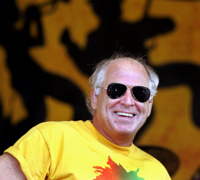 Jimmy Buffett performs during the 2006 New Orleans Jazz & Heritage Festival at the New Orleans Fair Grounds May 6, 2006. The festival is the first major musical event to be held in New Orleans since Hurricane Katrina devastated the area last year, leaving vast areas of the city still uninhabitable. (UPI Photo/Judi Bottoni)