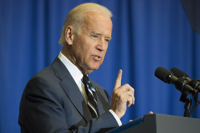 Vice President Joe Biden delivers remarks on economic policy to a group of students at George Washington University. UPI/Kevin Dietsch