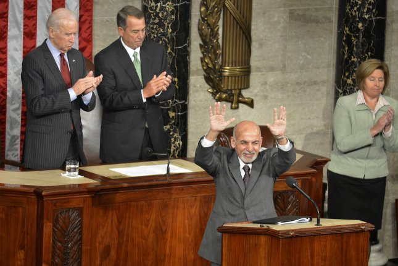 Afghan President Ashraf Ghani offers thanks to U S  Congress