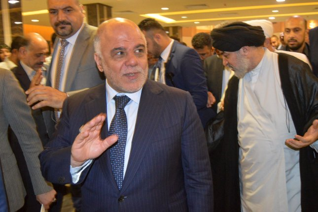 At least 25 more Marines were deployed to the U.S. Embassy in Baghdad after Shiite Muslim activists stormed Iraq's Green Zone in protest of Iraqi Prime Minister Haider al-Abadi, seen here in October. Photo by Mohammed Abbas /UPI