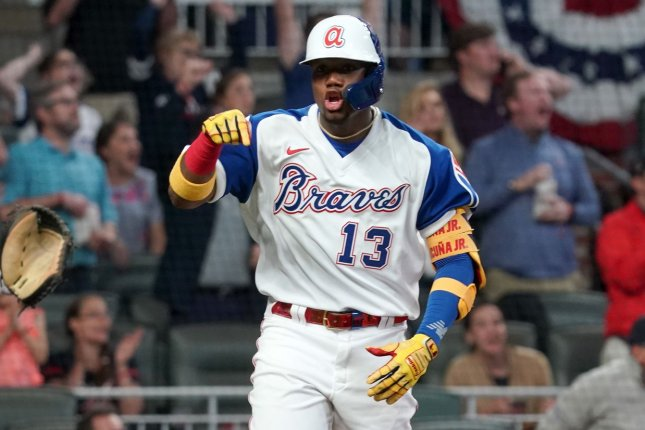 Ronald Acuna Jr. and the Atlanta Braves face the Chicago Cubs at 7:08 p.m. EDT Sunday on ESPN. File Photo by Tami Chappell/UPI