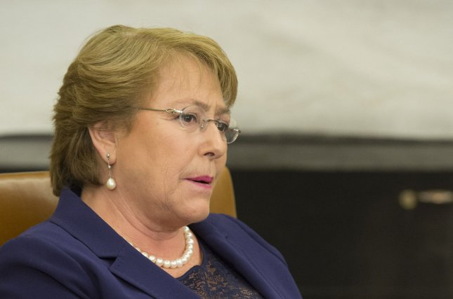 Chilean President Michelle Bachelet. File Photo by Kevin Dietsch/UPI