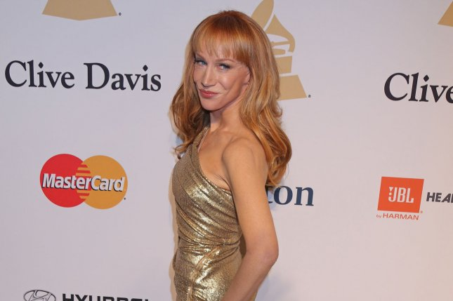 Kathy Griffin arrives on the red carpet before the annual Clive Davis Pre-Grammy Gala in Beverly Hills, Calif., on Feb. 7, 2015. Photo by David Silpa/UPI