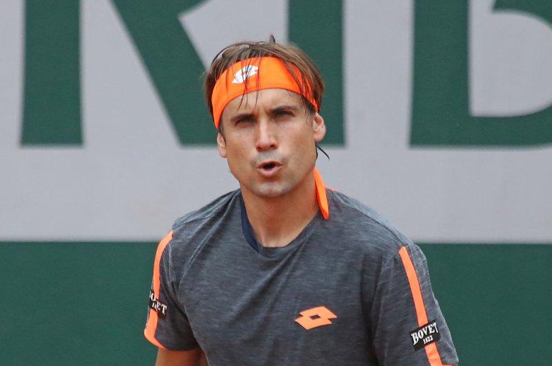 David Ferrer of Spain. Photo by David Silpa/UPI