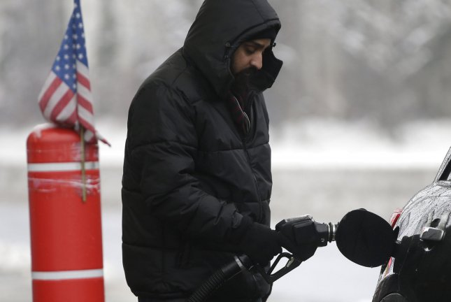 Fuel prices fell an average of 5 cents per gallon during the week ended Monday, and declines may continue through the end of the year, the AAA said. File Photo by John Angelillo/UPI