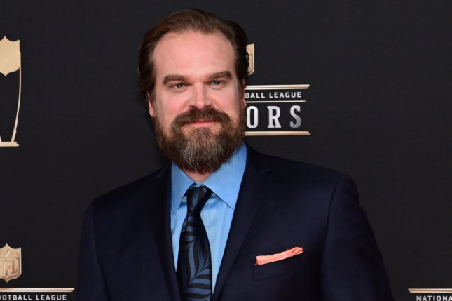 Actor David Harbour can now be seen in a new Hellboy trailer. File Photo by David Tulis/UPI