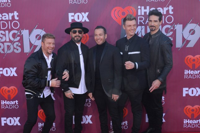 The Backstreet Boys are celebrating the 20th anniversary of their signature hit, I Want It That Way. File Photo by Jim Ruymen/UPI