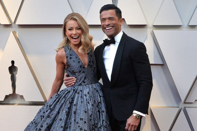 Kelly Ripa (L) and her husband Mark Consuelos are developing an Mexican Gothic series for Hulu. File Photo by Jim Ruymen/UPI
