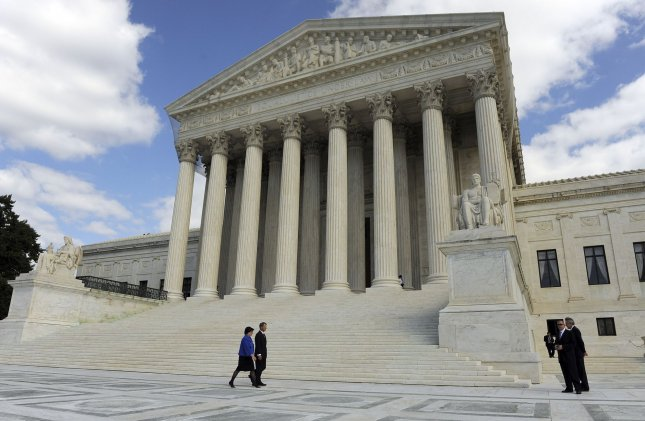 The Supreme Court. UPI/Roger L. Wollenberg