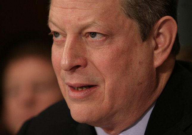 Former U.S. Vice President Al Gore testifies before a Senate Foreign Relations Committee hearing on Addressing Global Climate Change: The Road to Copenhagen on Capitol Hill in Washington on January 28, 2009. (UPI Photo/Yuri Gripas)