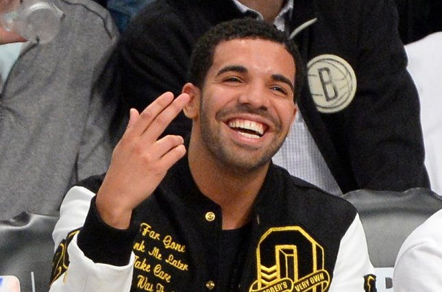 Drake at the NBA Eastern Conference quarterfinals on May 2, 2014. File Photo by Rich Kane/UPI