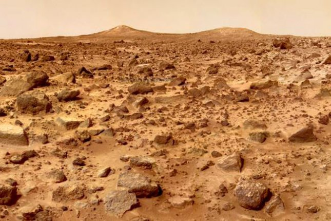Mars Pathfinder took this image of the Twin Peaks, which are modest-size hills to the southwest of the Mars Pathfinder landing site. On this day in 1997, Pathfinder became the first spacecraft to land on Mars in more than two decades. File Photo courtesy NASA