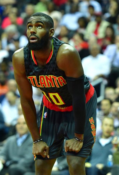Tim Hardaway Jr. has signed an offer sheet with the New York Knicks. The Atlanta Hawks have 48 hours from the time the offer was signed to match. Photo by Kevin Dietsch/UPI