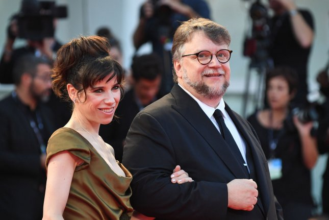 Mexican director Guillermo del Toro and English actress Sally Hawkins attend the 74th Venice Film Festival on August 31. Their film The Shape of Water was nominated for 14 Critics' Choice Awards Wednesday. File Photo by Paul Treadway/UPI