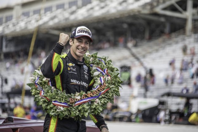 Simon Pagenaud won the 103rd running of the Indianapolis 500 on May 26 at the Indianapolis Motor Speedway in Indianapolis. File Photo by Edwin Locke/UPI