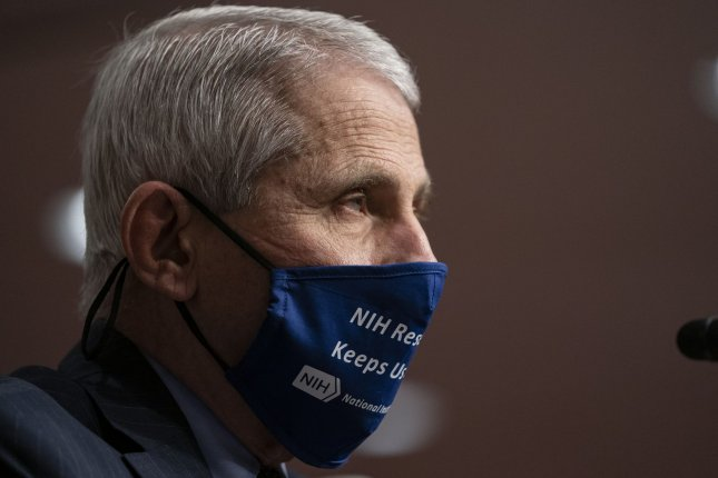 Director of the National Institute of Allergy and Infectious Diseases Dr. Anthony Fauci warned of a whole lot of hurt coming to the United States due to the COVID-19 pandemic in the winter, criticizing the White House's response. Pool Photo by Alex Edelman/UPI