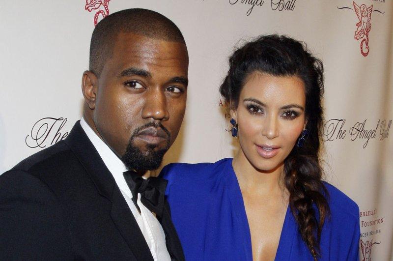 Kim Kardashian and Kanye West. UPI/John Angelillo