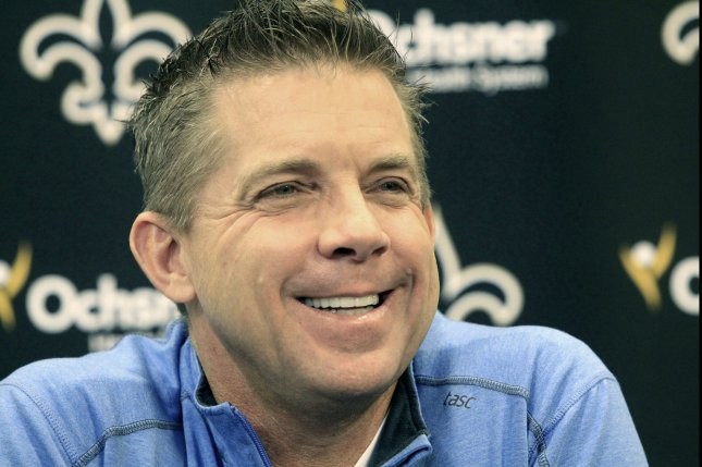 Sean Payton announced that he plans to return as the Saints head coach next season, during a press conference in New Orleans, January 6, 2016. I'll be here as long as they'll have me, Payton said. In recent weeks there has much speculation about Payton's future with the club. Photo by AJ Sisco/UPI
