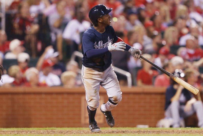 Atlanta Braves second baseman Ozzie Albies. File photo by Bill Greenblatt/UPI