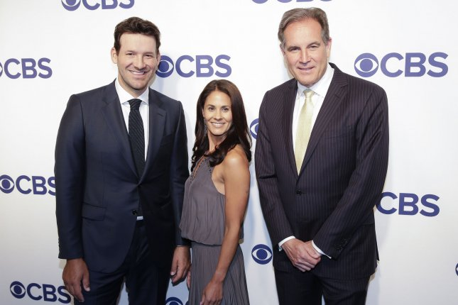 ... and Jim Nantz arrive on the red carpet the 2018 CBS Upfront at The  Plaza Hotel on May 16 in New York City. Photo by John Angelillo UPI  04b07c529
