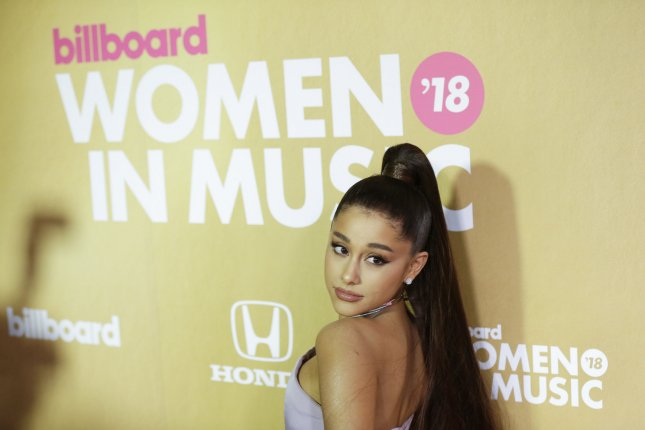 Ariana Grande discussed her challenging relationship with Mac Miller and the rapper's ultimate death in the August issue of Vogue. File Photo by John Angelillo/UPI