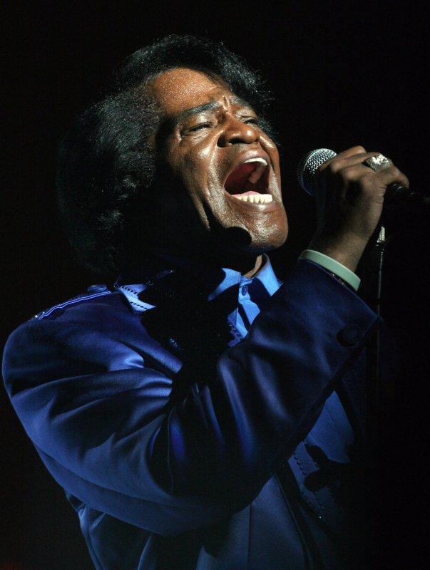 Legendary soul/funk artist James Brown on June 29, 2006 in Paris. (UPI Photo/David Silpa/File)