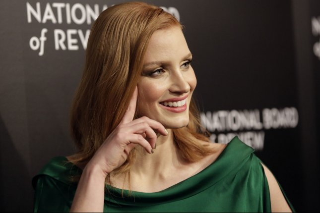 Jessica Chastain arrives on the red carpet at The National Board of Review Gala honoring the 2015 Award Winners at Cipriani 42nd Street in New York City on January 5, 2016. File Photo by John Angelillo/UPI