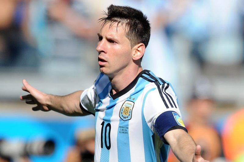 Lionel Messi of Argentina. UPI/Chris Brunskill