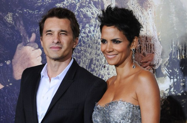 Halle Berry (R) and Olivier Martinez at the Los Angeles premiere of Cloud Atlas on October 24, 2012. File Photo by Jim Ruymen/UPI