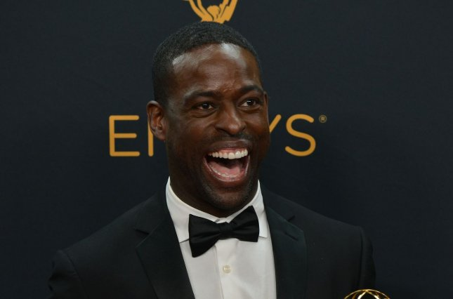 Actor Sterling K. Brown with the prize he won for Outstanding Supporting Actor in a Limited Series or Movie for The People vs. OJ Simpson: American Crime Story during the 68th annual Primetime Emmy Awards on September 18, 2016. Brown has joined the cast of Marvel's Black Panther. File Photo by Christine Chew/UPI