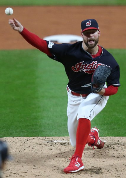 Corey Kluber and the Cleveland Indians take on the Tampa Bay Rays on Friday. Photo by Aaron Josefczyk/UPI
