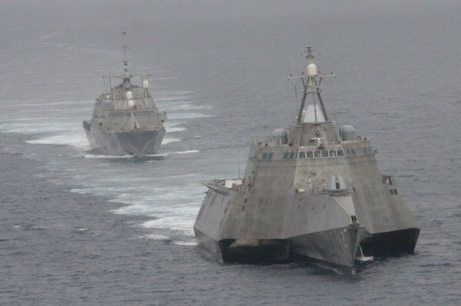The U.S. Navy announced on Friday that Lockheed Martin will build four Multi-Mission Surface Combatant ships for the Saudi navy, similar to the littoral combat ships USS Freedom, rear, and the USS Independence, in a $1.96 billion contract. File Photo by Lt. Jan Shultis/U.S. Navy/UPI