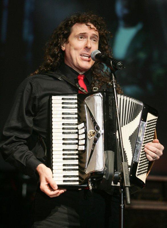 Pop music satirist Weird Al Yankovic performs in concert at the Pompano Beach Amphitheater in Pompano Beach, Florida on May 25, 2007. (UPI Photo/Michael Bush)