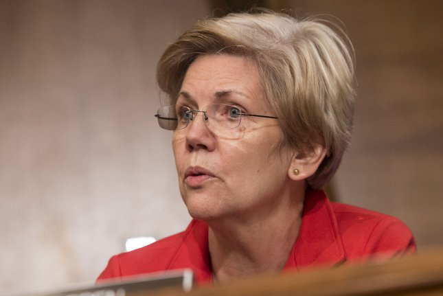 Sen. Elizabeth Warren questions whiteness during a Senate Banking, Housing and Urban Affairs Committee hearing on student loans on Capitol Hill in Washington, D.C. on June 4, 2014. UPI/Kevin Dietsch