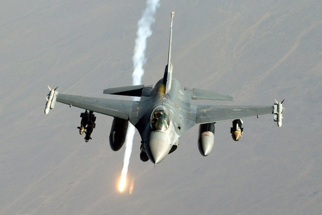 South Korea plans to build its own F-16-class fighter jet. Photo by Lee O. Tucker/USAF/UPI