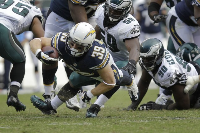 San Diego Chargers Rb Danny Woodhead Leaves Games Upi Com