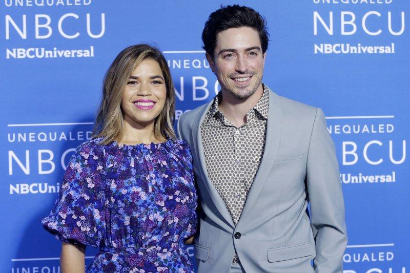 NBC has ordered a fourth season of Superstore starring America Ferrera (L) and Ben Feldman. File Photo by John Angelillo/UPI