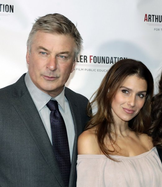 Alec Baldwin (L) and his wife Hilaria Baldwin. The Alec Baldwin Show will begin airing on Saturday Nights in December. File Photo by Jason Szenes/UPI