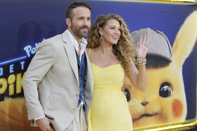 Ryan Reynolds (L) with his wife Blake Lively. The actor pulled a Pokemon Detective Pikachu prank on YouTube. Photo by John Angelillo/UPI