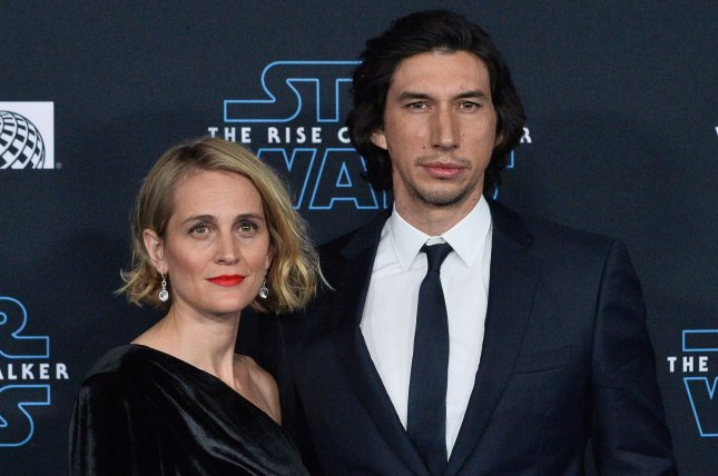Star Wars: The Rise of Skywalker star Adam Driver and his wife, Joanne Tucker. The film topped the box office on Christmas Day. Photo by Jim Ruymen/UPI