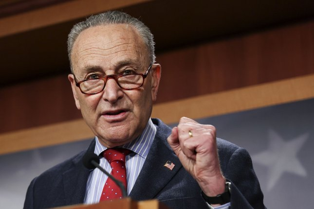 Senate Democratic leader Chuck Schumer, D-N.Y., was among the overwhelming majority of senators who voted in favor of extending the Paycheck Protection Program deadline. Pool Photo by Jonathan Ernst/UPI