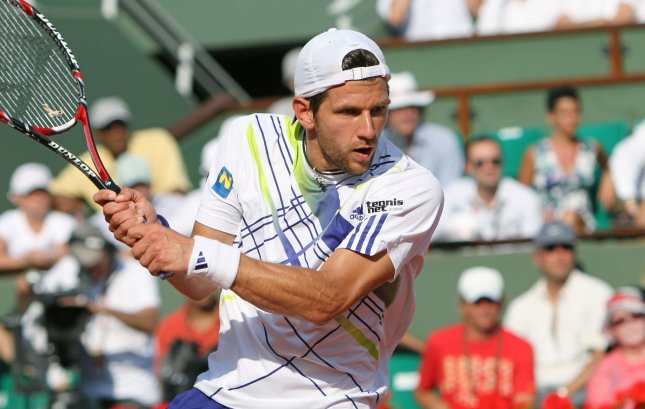 Jurgen Melzer, shown in the 2010 French Open, and Andreas Haider-Maurer had wins Friday and gave Austria a 2-0 lead over Russia in the Davis Cup first round. UPI/David Silpa