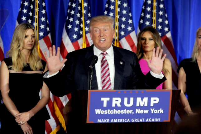 Republican Nominee for president Donald Trump makes post-election remarks at Trump National Golf Club on June 7, 2016 in Briarcliff NY. Three U.S. senators requested the 2017 U.S. Women's Open be moved from Trump's course. Photo by Dennis Van Tine/UPI